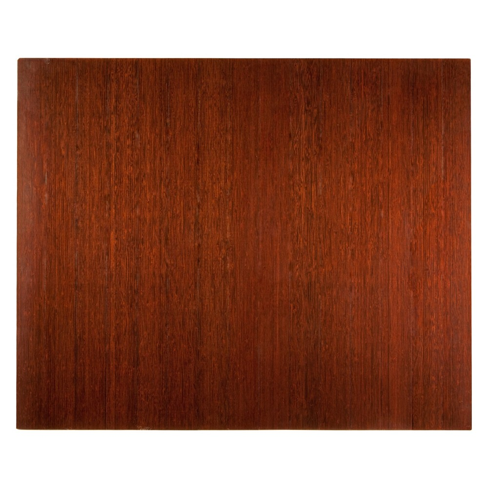 """Bamboo Deluxe Roll-Up Chairmat, 60"""" x 48"""", no lip"""