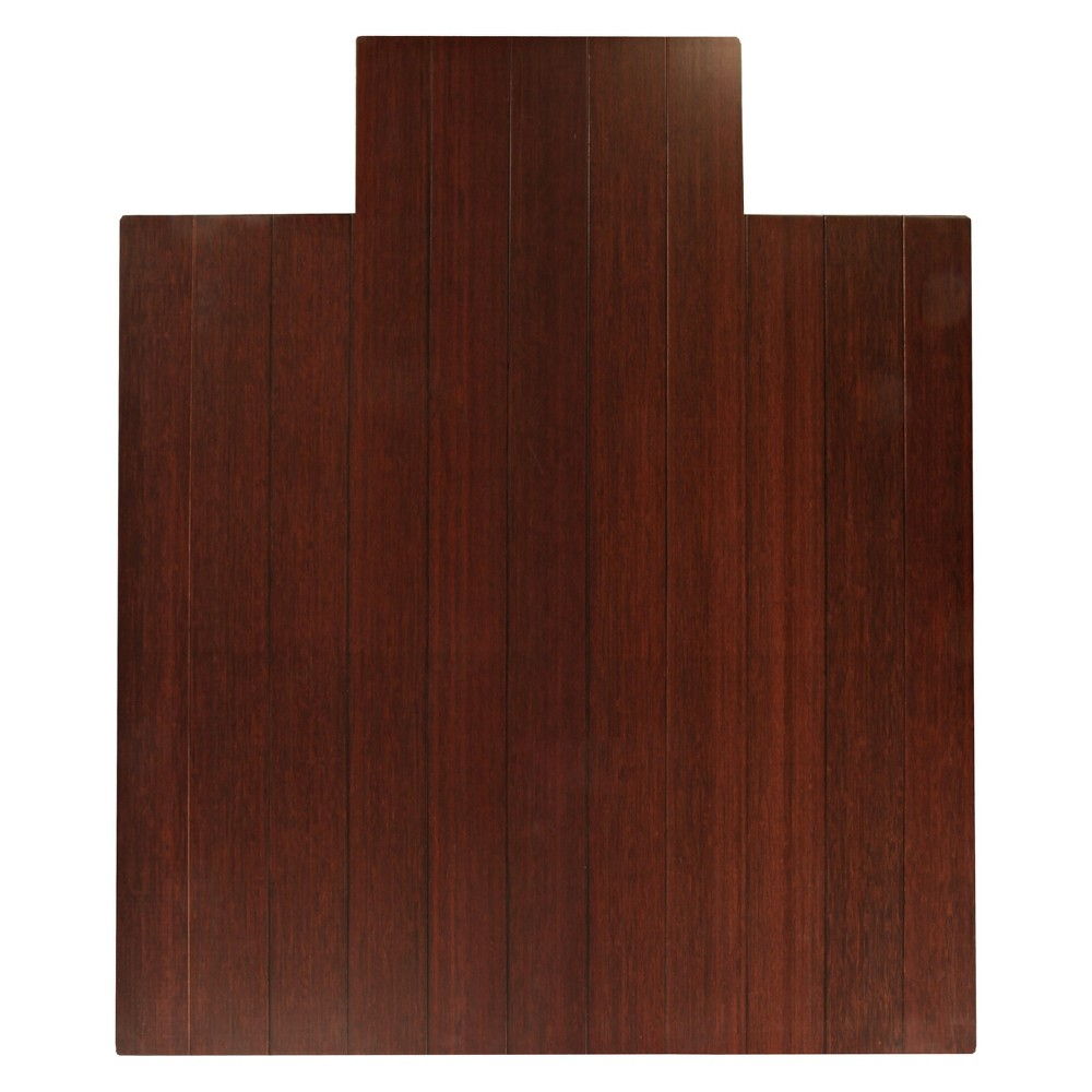 """Bamboo Deluxe Roll-Up Chairmat, 44"""" x 52"""", with lip"""