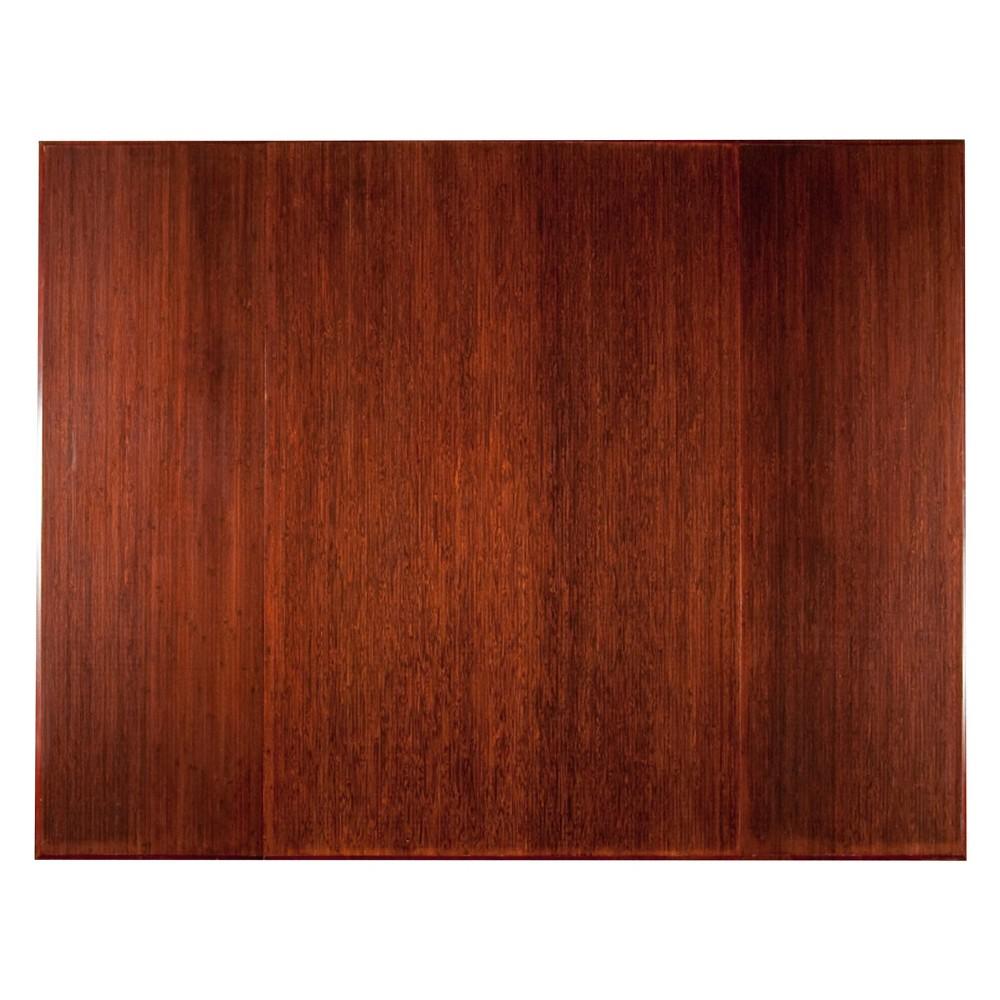 "Bamboo Tri-Fold Plush Chairmat, 47"" x 60"", no lip"