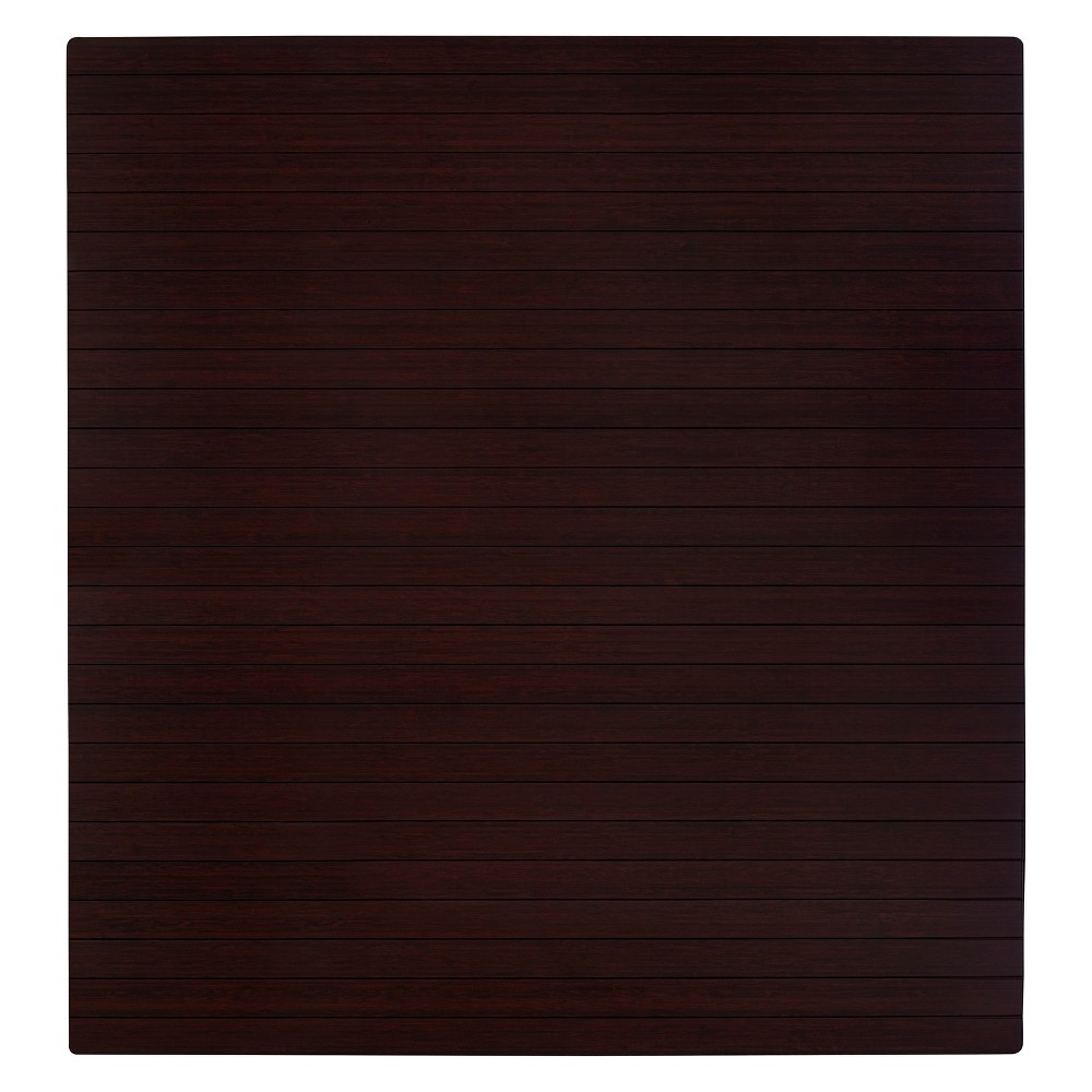 """Bamboo Roll-Up Chairmat, 52"""" x 48"""", no lip"""