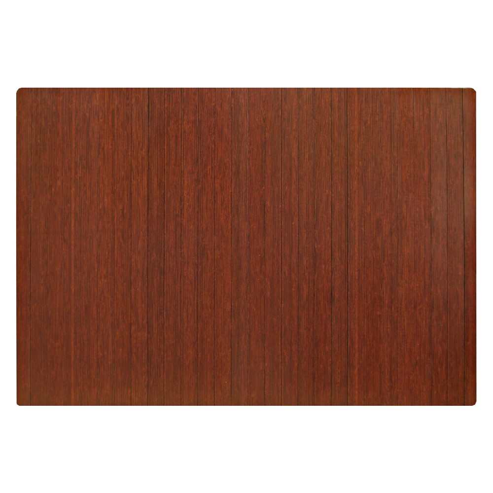 """Bamboo Roll-Up Chairmat, 60"""" x 48"""", no lip"""
