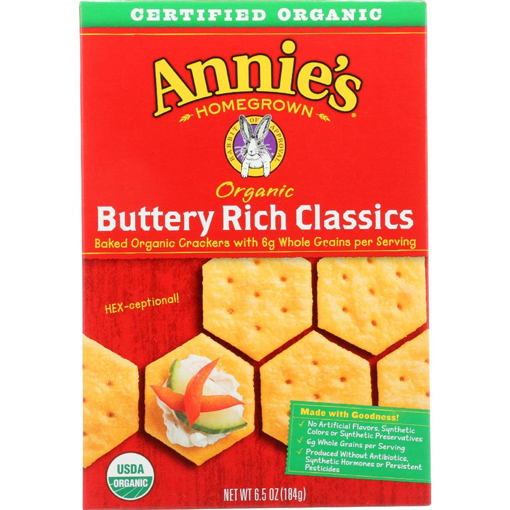 Annie's Homegrown - Classic Buttery Rich Crackers ( 12 - 6.5 OZ)