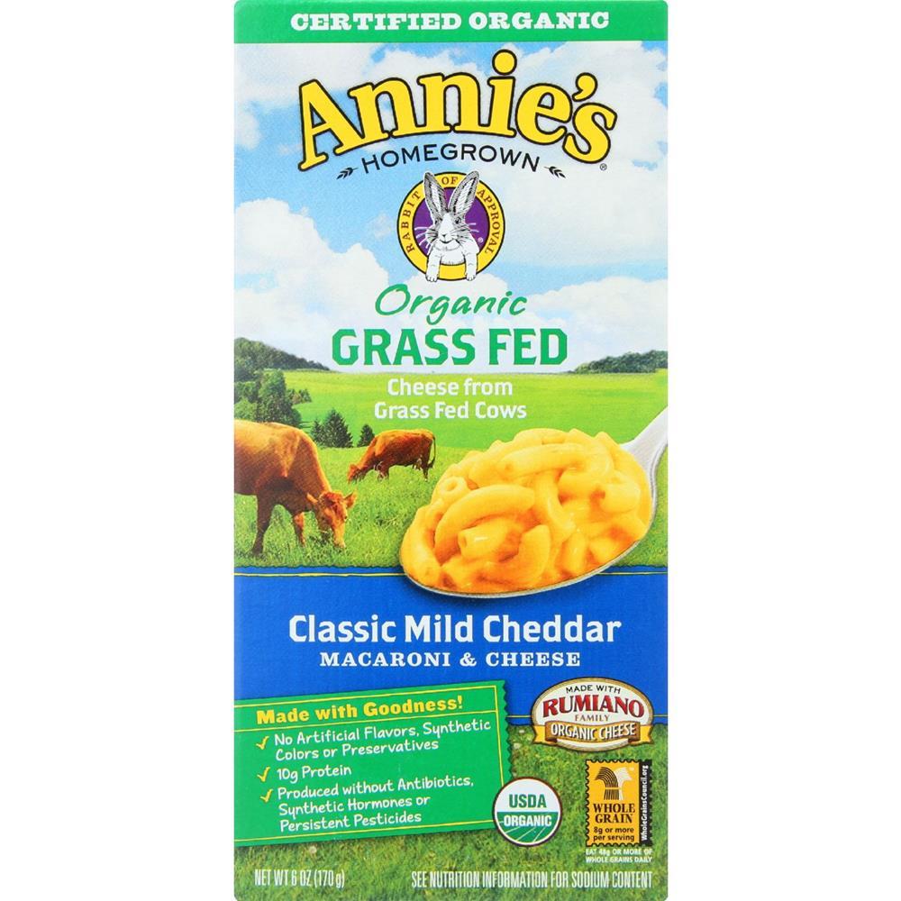 Annie's Homegrown - Shells & Mild Cheddar ( 12 - 6 OZ)