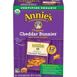 Organic Bunny Cracker Snack Pack - Cheddar ( 48 - 1 OZ )
