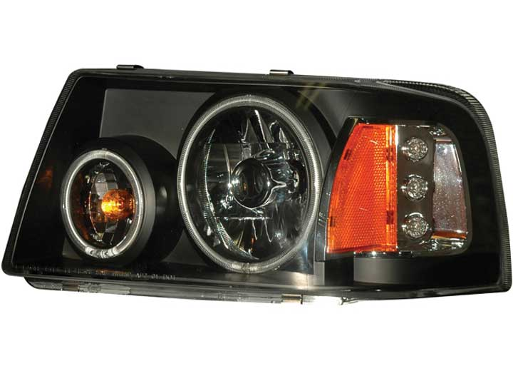 01-11 RANGER 1 PC. PROJECTOR HALO BLACK CLEAR AMBER(CCFL)HEADLIGHTS DRIVE/PASS