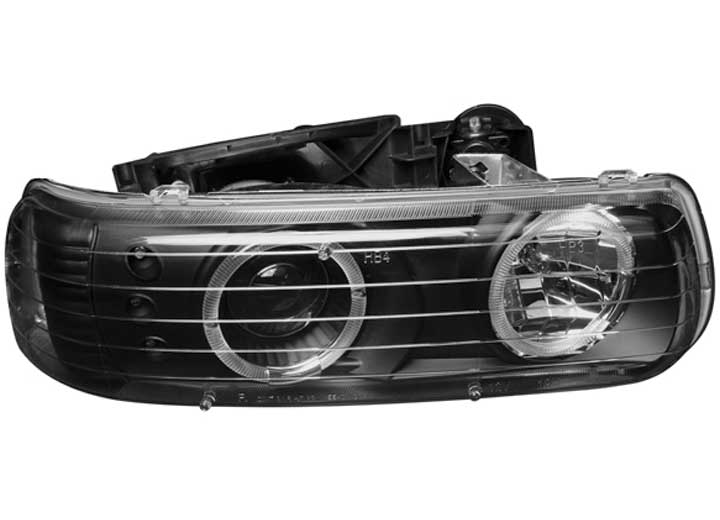 01-02 SILVERADO PROJECTOR WITH HALO BLACK HEADLIGHTS DRIVER/PASSENGER