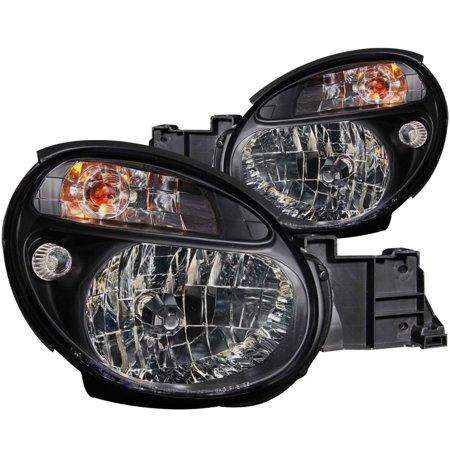 02-03 IMPREZA HEADLIGHTS CRYSTAL BLACK DRIVER/PASSENGER