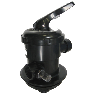"""Filter Valve, Top Mount, Astral, 1-1/2"""" FPT, Clamp On, Black"""