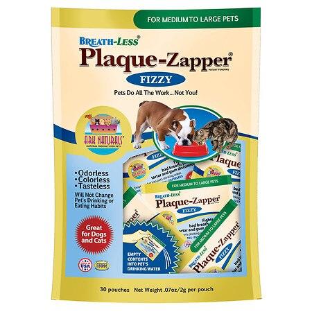 Ark Naturals Breath Less Plaque Zapper  Fizzy  Medium to Large Pets  30 Count
