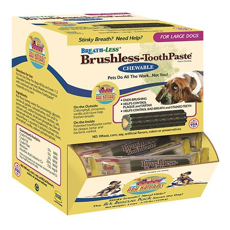 Ark Naturals Breath Less Brushless ToothPaste  Chewable  Large Dogs  Case of 30