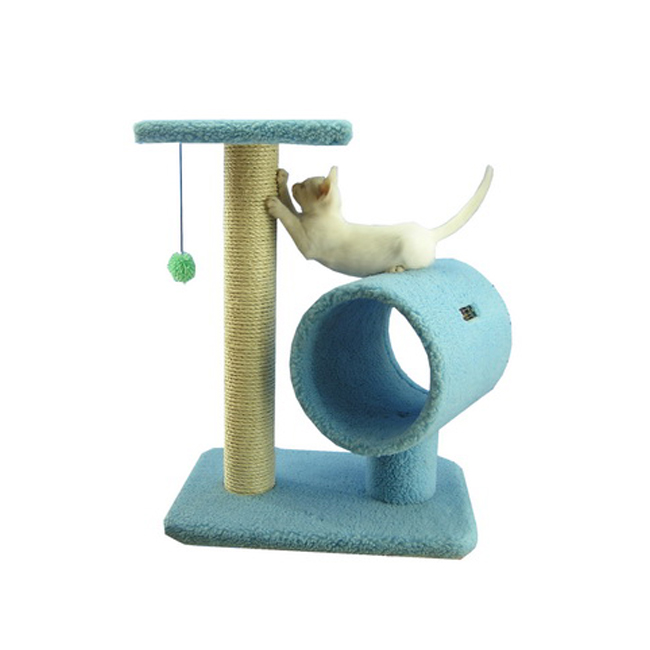 Armarkat 26-Inch Wooden Step Cat Tower Tree Condo Scratcher Kitten House-Sky Blue