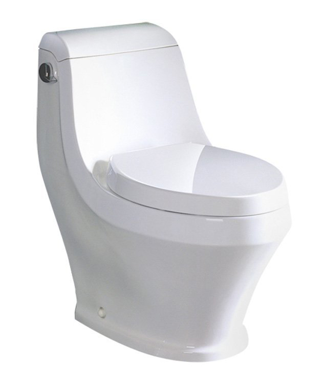 "Toilet - Ariel Platinum Contemporary One Piece ""Adonis"" (White)"