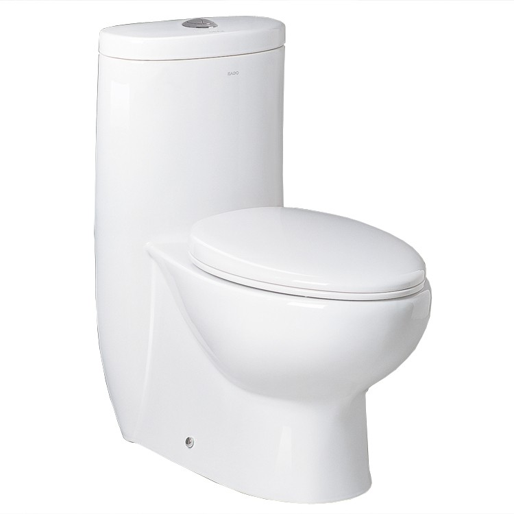 "Dual Flush Toilet - Ariel Platinum Contemporary One Piece ""Hermes"" (White)"