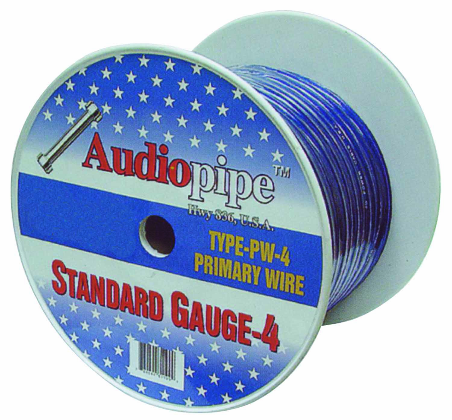 100' 4 GAUGE OXYGEN FREE CABLE (SILVER)