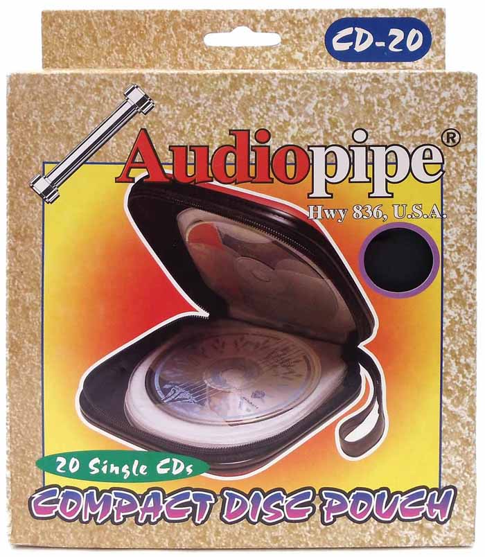 AUDIO PIPE 20 CD CARRYING CASE ( BLACK )