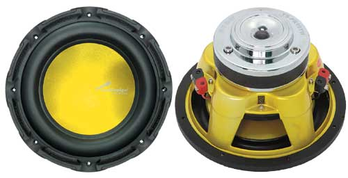 "15"" 850 WATTS WOOFER W/YELLOW CONE"