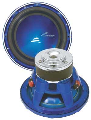 "10"" 1200 WATTS SPL SUB WOOFER BLUE CONE"