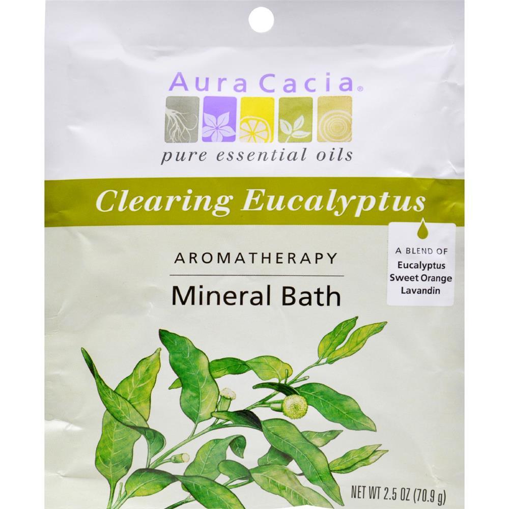Aura Cacia - Eucalyptus Harvest Mineral Bath Salts ( 12 - 2.5 OZ)