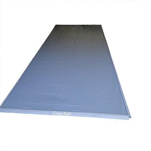 Park Smart® Clean Park® Motorcycle//Golf Cart Garage Mat 4.5-feet x 9-feet Gray