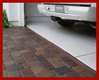 Park Smart® Garage Door Threshold Seal 20-feet Brown