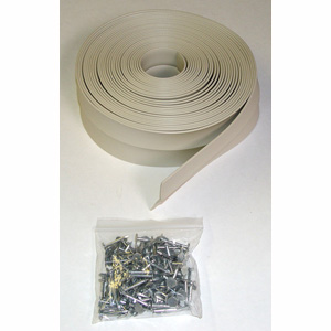 26' Garage Door Top and Side Seals with Nails, 1 Car Garage Kit
