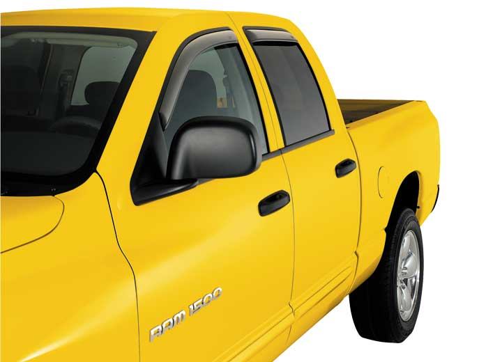 00-04 FRONTIER CREW CAB 4PC IN-CHANNEL VENTVISORS-SMOKE