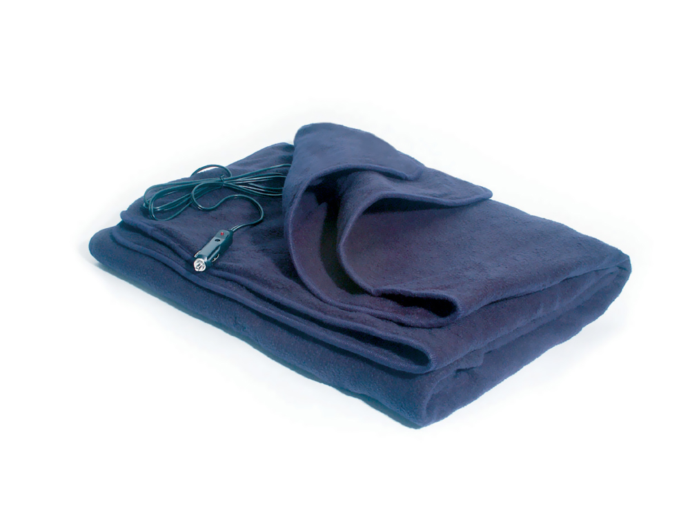 Automotive Comfy Cruise 12 Volt Heated Travel Blanket-Navy