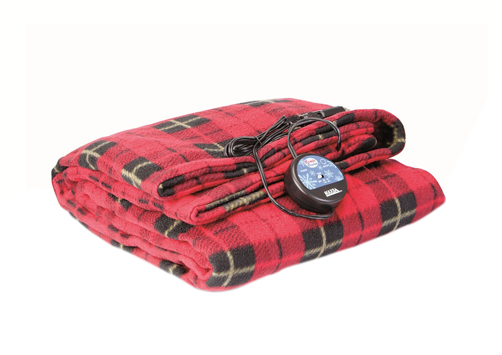 Automotive Comfy Cruise 12 Volt Heated Travel Blanket-Plaid