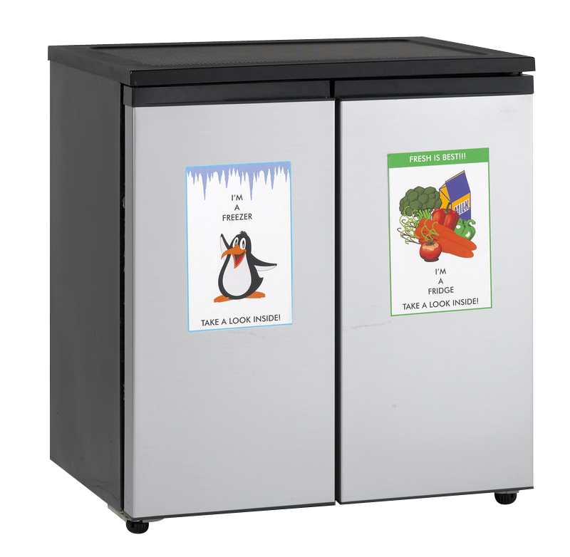 Avanti 5.5 Cu. Ft. Compact Side By Side Refrigerator