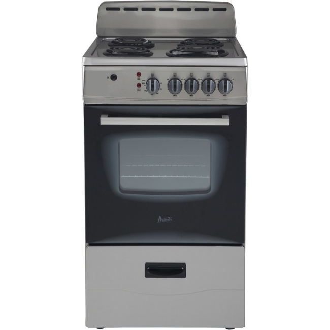 "Avanti 20"" Electric Range Storage Blk-SS"