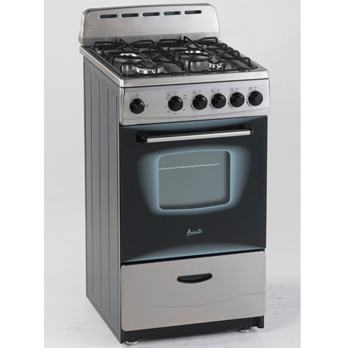 "Avanti 20"" Gas Range Sealed Burners SS"