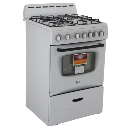 "Avanti 24"" Gas Range Sealed Burners Wht"