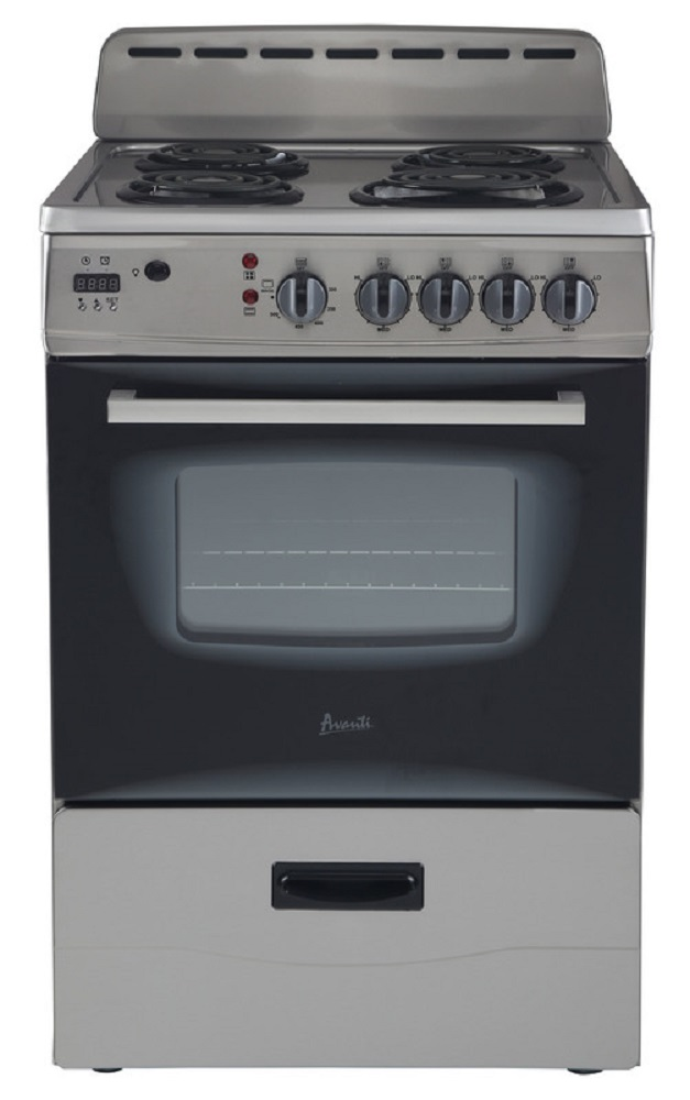 "Avanti 24"" Electric Range Storage Blk-SS"