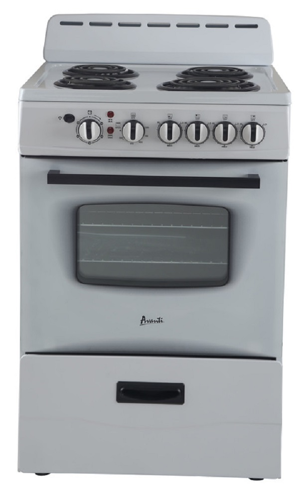 "Avanti 24"" Electric Range Storage White"