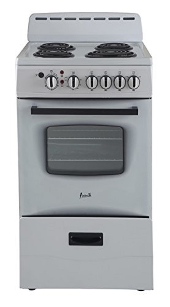 "Avanti 20"" Electric Range Storage White"