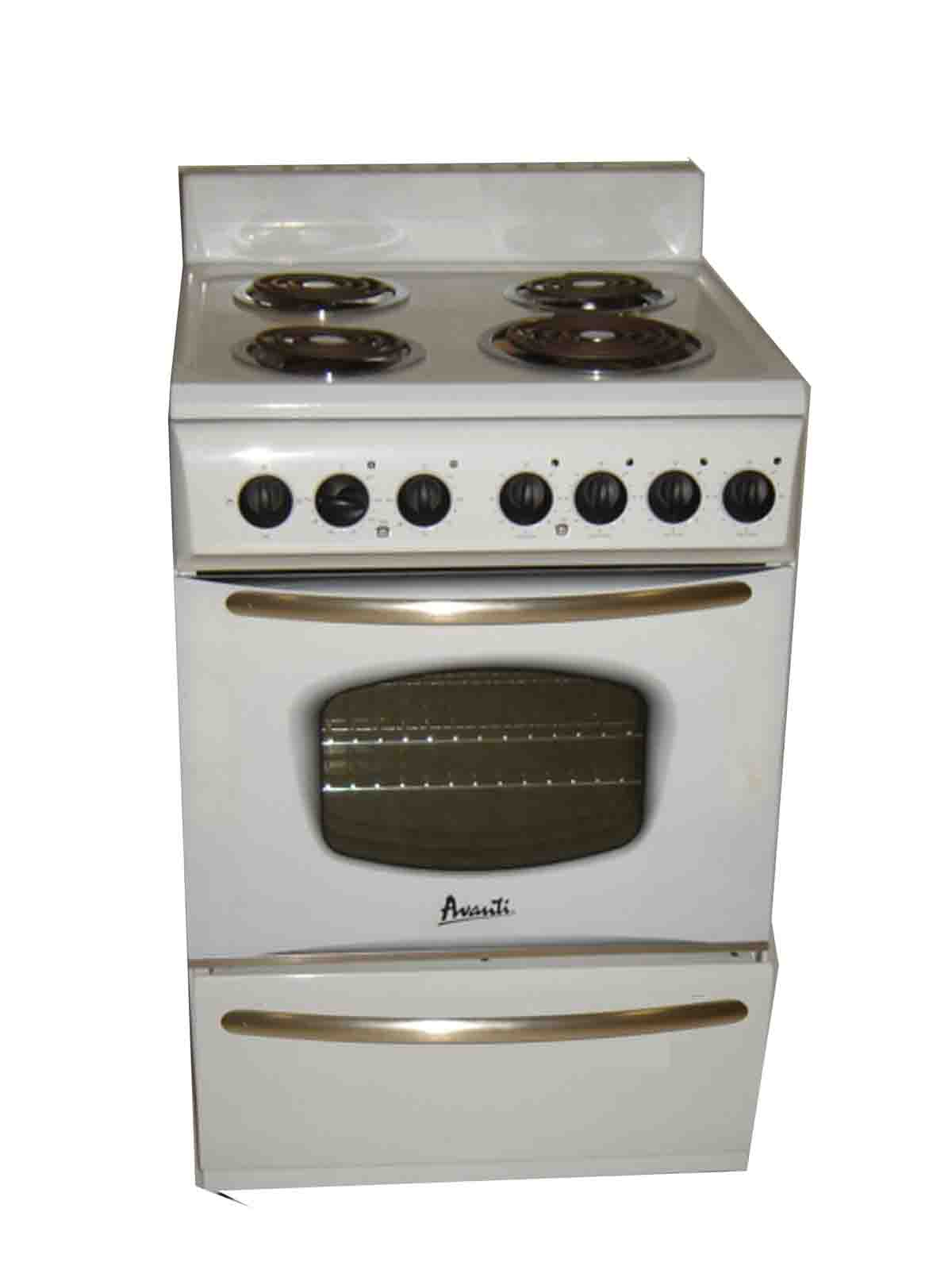 "Avanti 24"" Electric Range White"