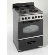 "24"" Electric Range, Stainless steel with black"