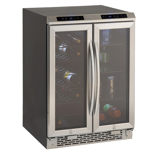 2 door Wine cooler/Beverage center, Stainless steel