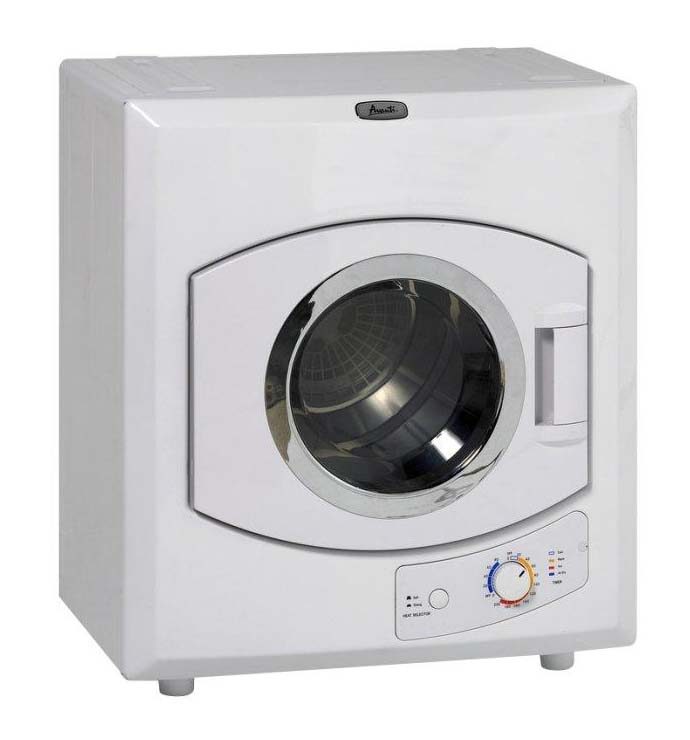 Compact Electric Dryer, White
