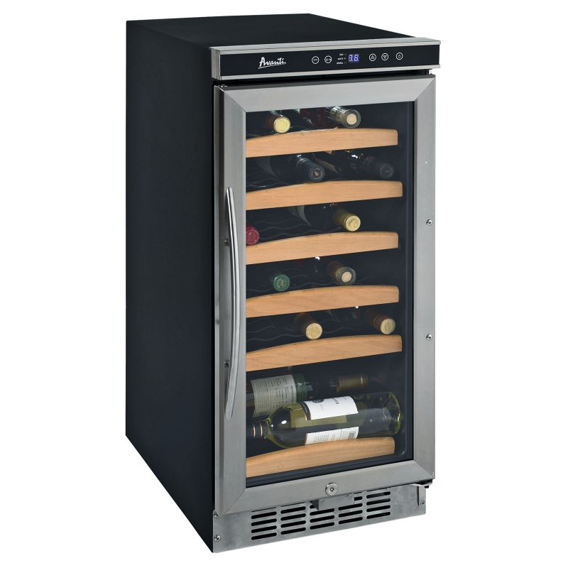 30 bottle wine cooler with electronic display