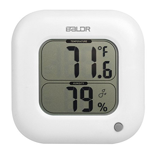 BALDR TH0323WH1 WHITE THERMO HYGROMETER WITH TEMPERATURE