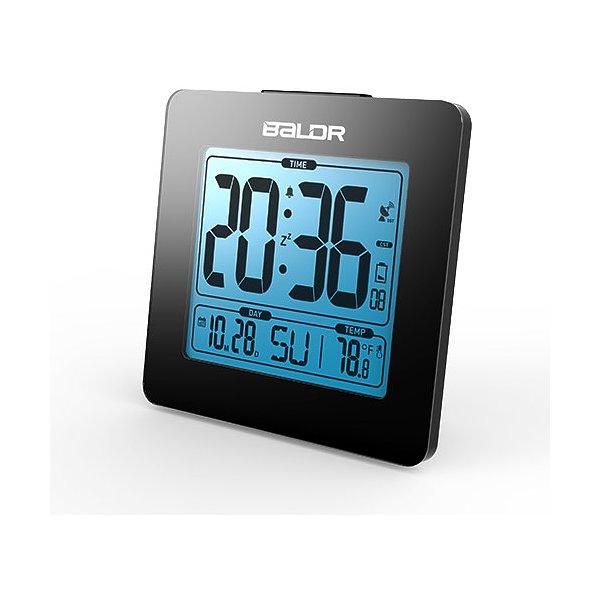 BALDR CL0114BL1 BLACK  ATOMIC DIGITAL DESK ALARM CLOCK