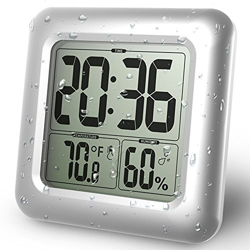 BALDR CL0006SI1 SILVER WATERPROOF SUCTION CUP WALL CLOCK