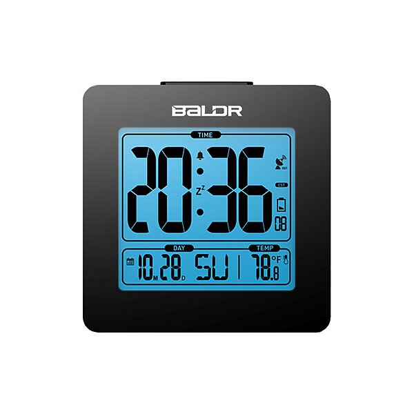 BALDR CL0114WH1 WHITE ATOMIC DIGITAL DESK ALARM CLOCK