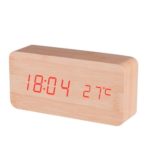 BALDR CL0929YR1 WOOD  DIGITAL WOODEN ALARM CLOCK  APPEARS