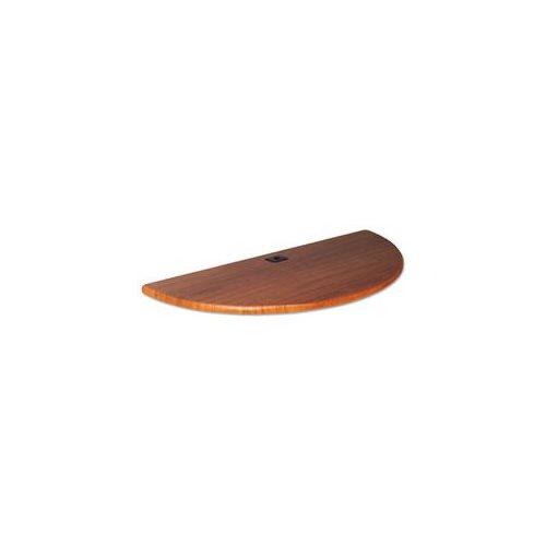 Height-Adjustable Flipper Table Top, Half-Round, 48w x 24d, Cherry