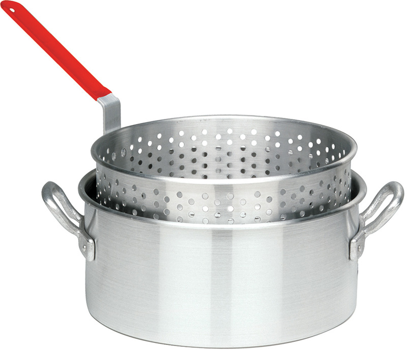 10 Quart Aluminum Deep Fryer With Basket, Lid Not Include