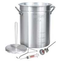 Barbour Bayou Classic 3025 Turkey Fryer Pot, 30 qt Capacity, 12-3/4 in Dia X 15-3/4 in H, Aluminum