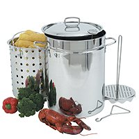 32-Qt Stainless Steel Turkey Fryer with LID