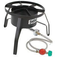 Barbour Bayou Classic SP10 High Pressure Gas Cooker With Wind Screen, LPG, Steel Frame